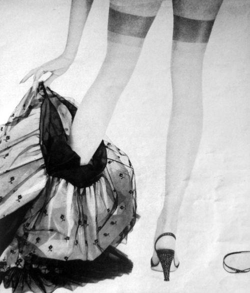 Stockings, Glamour magazine, 1957