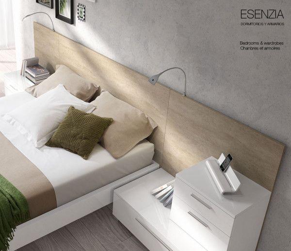 La colección Esenzia también dispone de unos flexos de lectura con iluminación led para acoplar a todos los cabezales y hacer más fácil la lectura en la cama.