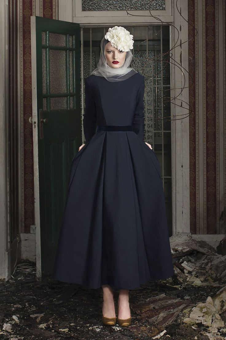 Pinned via Nuriyah O. Martinez | Touring Dress Navy - Diana Kotb