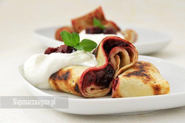 Naleśniki z owocami, naleśniki na słodko, naleśniki z dżemem, konfitura z owocowa, http://najsmaczniejsze.pl #food