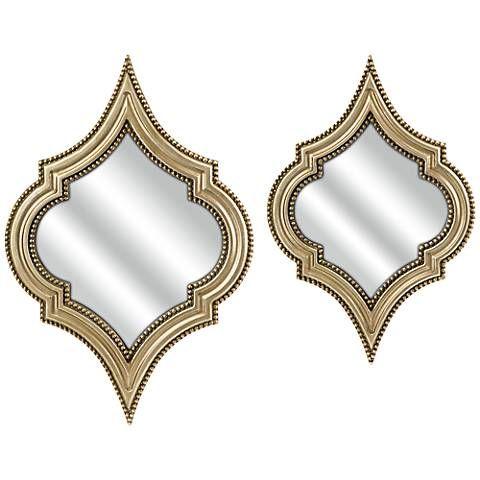 marietta champagne wall mirror set of 2