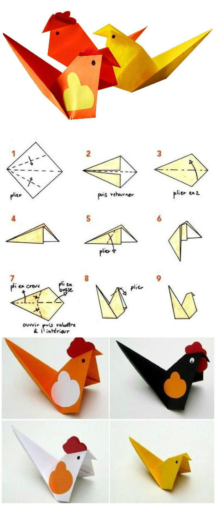 tuto origami cocotte en papier