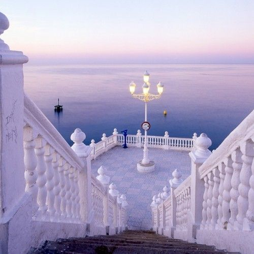Down the white stairs,  Staring into the purple sea,  Where we'll talk,  About you and me :)...