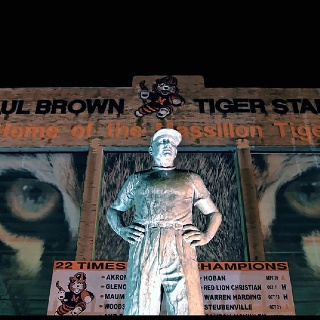 Paul Brown... home of the Massillon Tigers