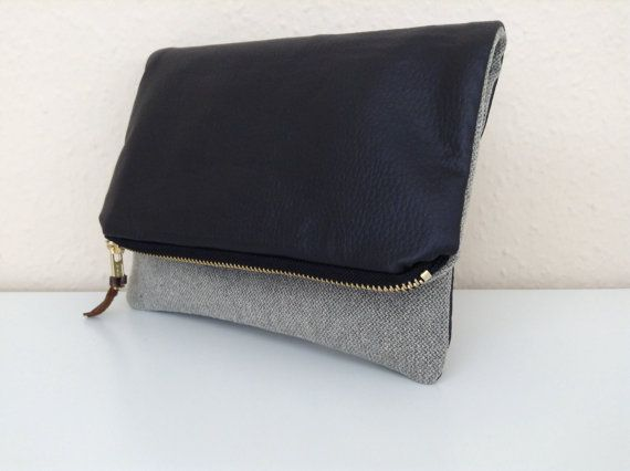 2 in 1 fold over zipper clutch by orshie on Etsy, €20.00
