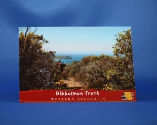 Postcard - Walkers on the South Coast. You never know who you will bump into out on the Bibbulmun Track.