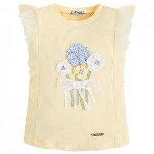 MAYORAL koszulka kwiaty 3d 3054 22