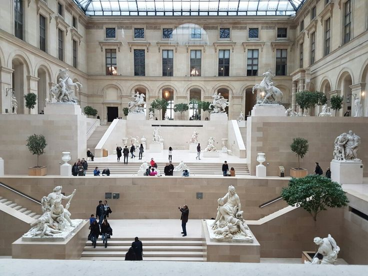 Inside of The Louvre Museum.