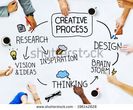 Business People and Creativity Concept  - stock photo
