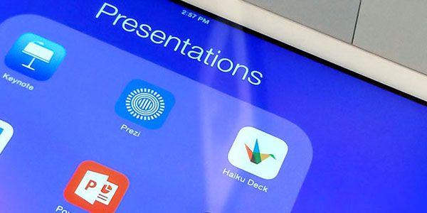 """Decir """"Adjúntame el PowerPoint""""esun método extremadamente común para hablar de las diapositivas en una presentación. Sin embargo, esa mala costumbre de llamar a todo powerpointesconde producciones realizadas con algunos programas con objetivos muy concretos y variados. Hoy, queremos hacertesaber que existen y cómo son esas otras alternativas a PowerPointpara crear presentaciones.  Y decimos apps porque la"""