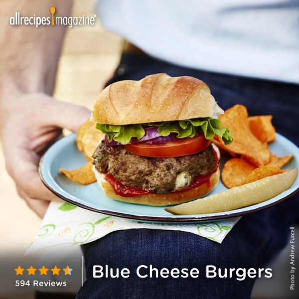 """Blue Cheese Burgers 