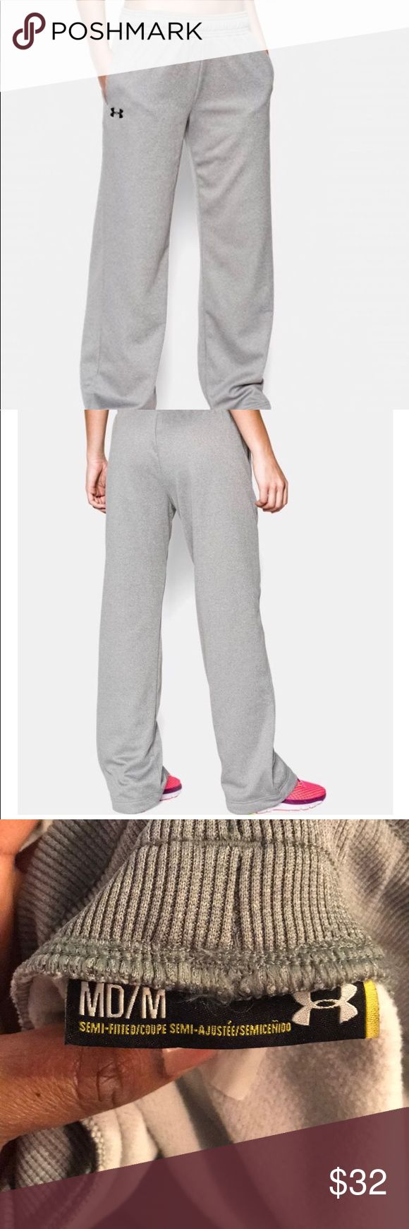 Fleece basketball pants Loose, more relaxed fit. Armour Fleece fabrication combines a soft, brushed inner layer with a smooth, fast-drying outer layer. Comfortable interior traps heat for superior warmth without adding a lot of bulk. Extended body length & adjusted seams give the ultimate fit & comfort. Two front pockets. Under Armour Pants Track Pants & Joggers