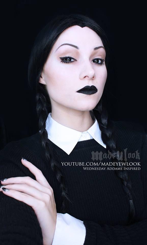 Wednesday Addams tutorial Video tutorial   https://www.youtube.com/watch?v=qxVBX-weBA8