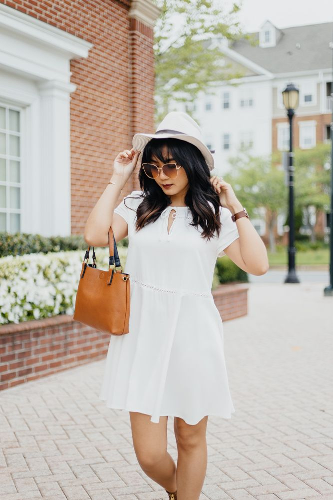 """White Spring and Summer Dresses Under $50  Most people I know including myself avoid the color white because it makes them look """"bigger"""". I agree but it's not true all the time.  Now that spring is in full effect and summer is just around the corner it's nice to stock up on some light-colored pieces and nothing beats the color white! And I don't know the reason behind this but every time I hear the word spring or summer I think of dresses! I'm sure I'm not the only one! Dresses are just so…"""