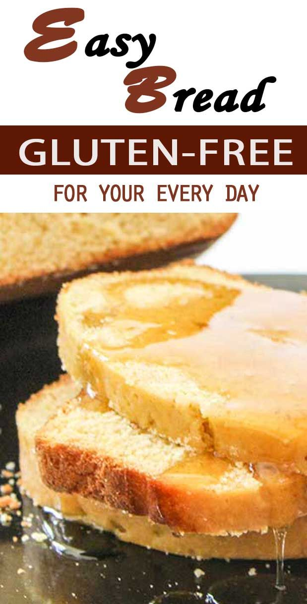 Easy Gluten Free Bread recipe for every day. Psst - don't tell your family how delicious it actually is