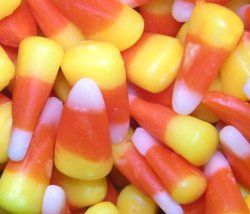Using #candy #corn to make fake #Halloween #teeth, whether for decorating purpose or sweet ghoulish treat.