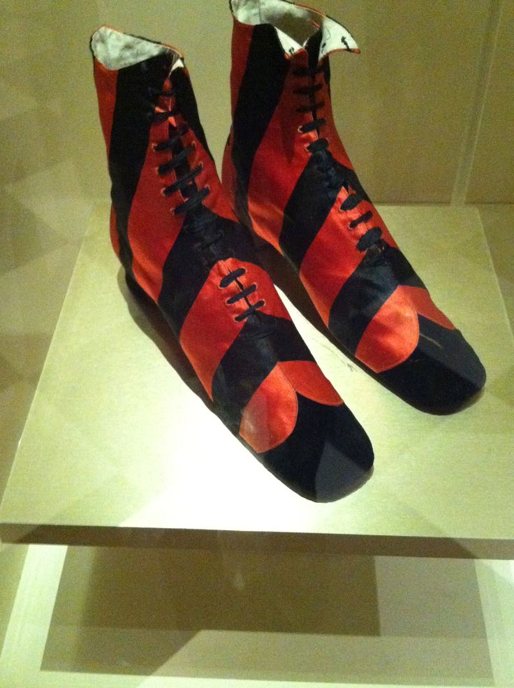 """Garish shoes!  From the Bata Shoe Museum's """"Fashion Victims: The Pleasures and Perils of Dress in the 19th Century"""" exhibit.  Although I would definitely wear these on a daily basis."""