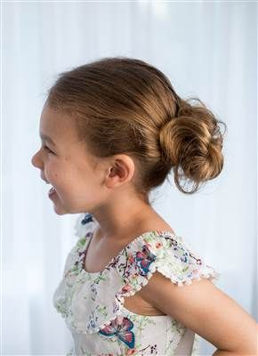 Low up-do hairstyle for girls