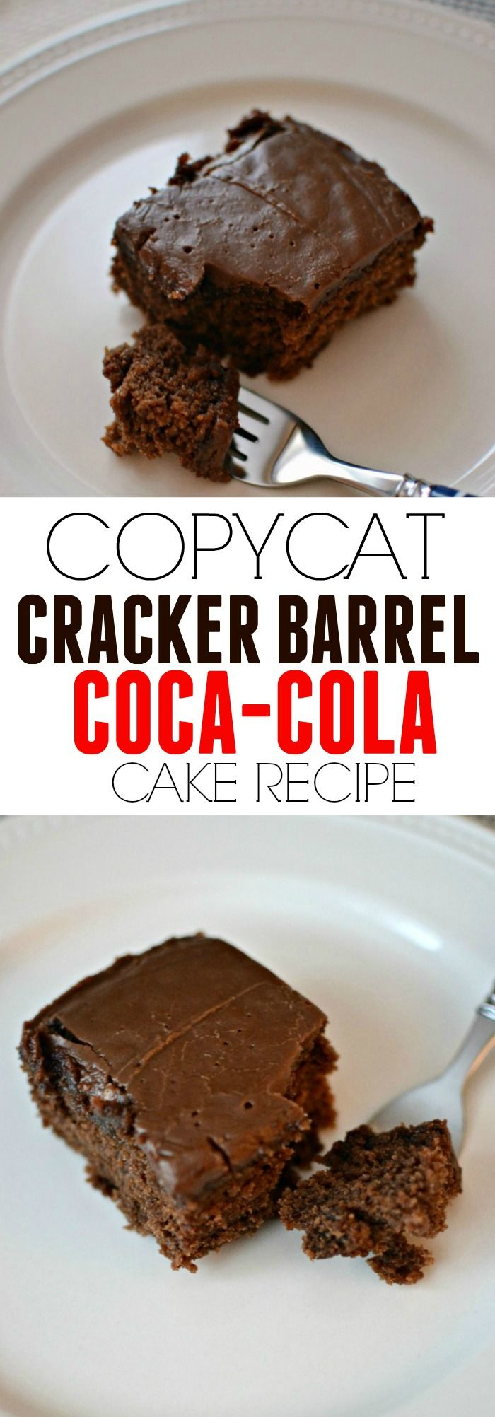 This copycat Cracker Barrel coca cola cake recipe is oh so yummy. Has the best rich chocolate fudge taste. Perfect for a family gathering cake.