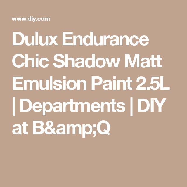 Dulux Endurance Chic Shadow Matt Emulsion Paint 2.5L   Departments   DIY at B&Q