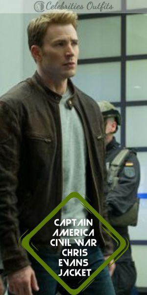 38c1a54a14d Chris Evans Captain America Civil War Brown Jacket in 2019