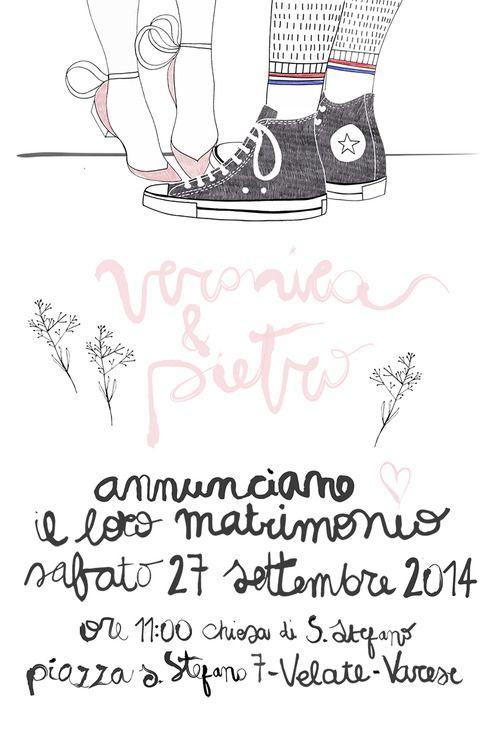 Creative Wedding invitations by Sara Gorini