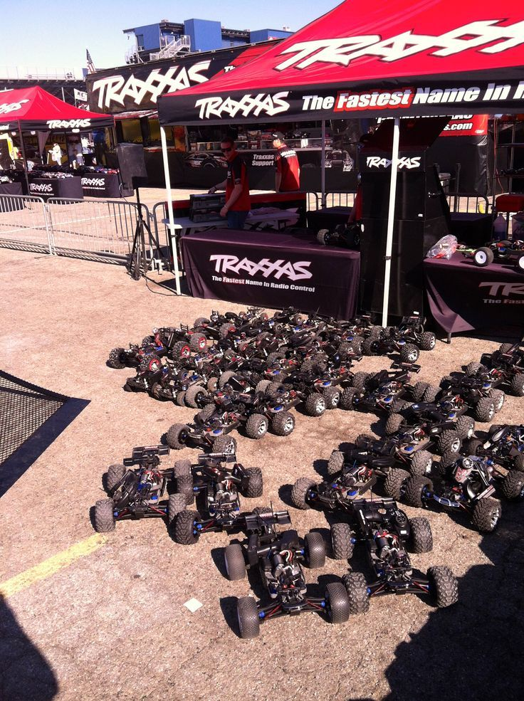 Traxxas Activation Team taking inventory before the