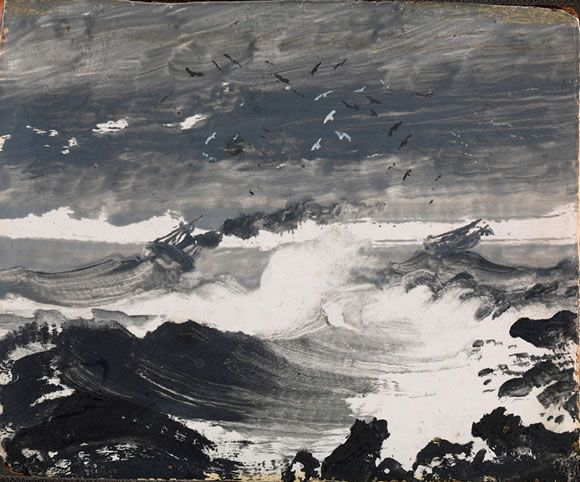 Peder Balke, The Tempest (ca. 1862