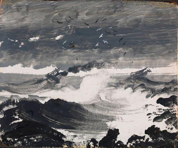 "Peder Balke, ""The Tempest"", c. 1862"