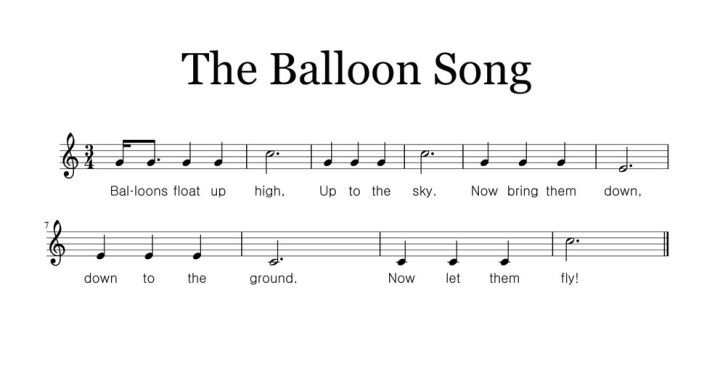 The Balloon Song Practicing Do Re Mi With Images Music