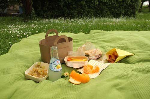 Cestas de picnic de cartulina