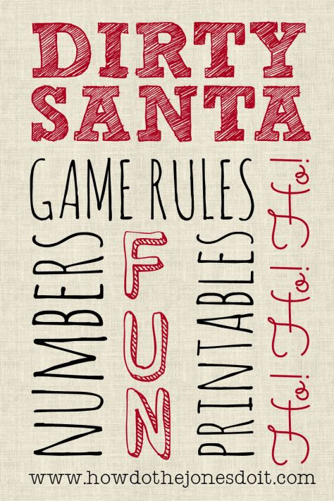Looking for a fun way to celebrate Christmas without spending a lot?! Check out the Dirty Santa Gift Exchange! You will love it!