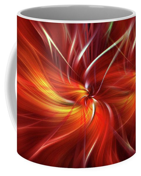 Double Flame. Mystery Of Colors  Coffee Mug by Jenny Rainbow.  Small (11 oz.)