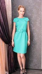 Классическое платье цвета морской волны