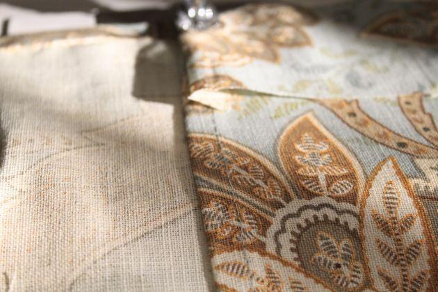 tablecloth into a curtain