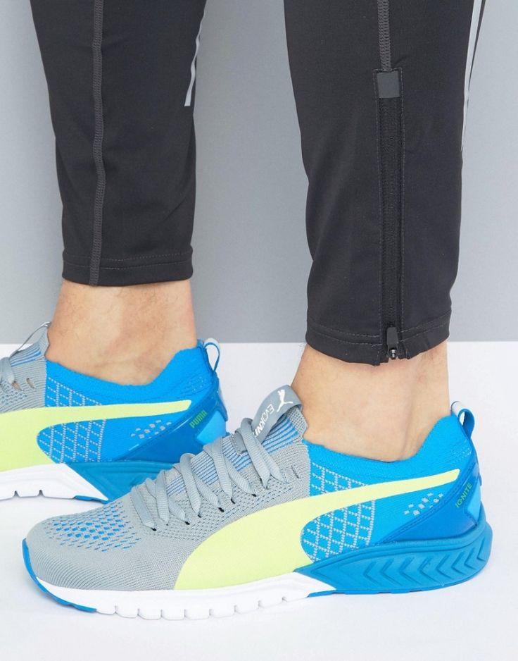 #Herren Puma – Ignite Dual – Evoknit-Sneaker – Blau, Gr. 40,40.5,43,44, 2201463739973