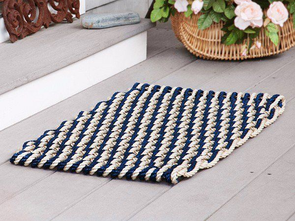 Nautical Door Mats by The Rope Co.  -  Wonder if I could weave rope into a similar mat?