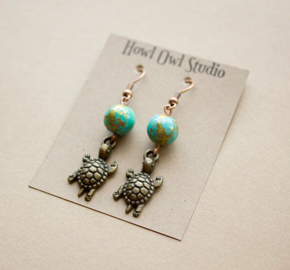 Sea Turtle earrings to support WWF Canada by HowlOwl on Etsy.