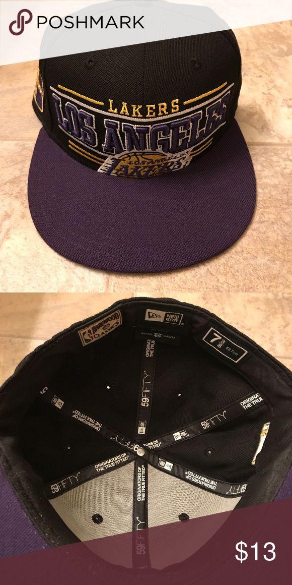 Lakers Hat Men's, 7 3/8 New Era Accessories Hats