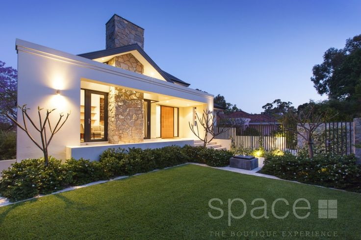 The warmth and character of this Nedlands home is announced from the street with the warm stone feature wall out front.