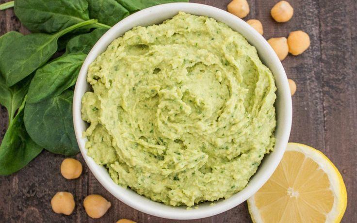 Spinach and Garlic Hummus [Vegan] | One Green Planet