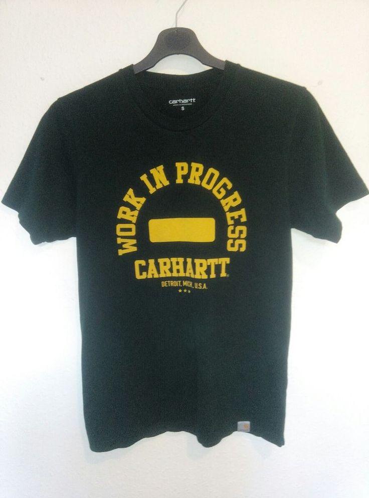 Carhartt Mens Campus T Shirt Green Yellow Label Work In Progress Size S