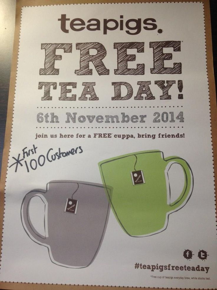 Cafe Pure in Norwich getting into the swing of things! #teapigsfreeteaday