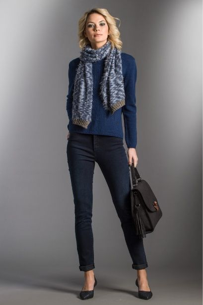 Scarf with a kind of fur knit
