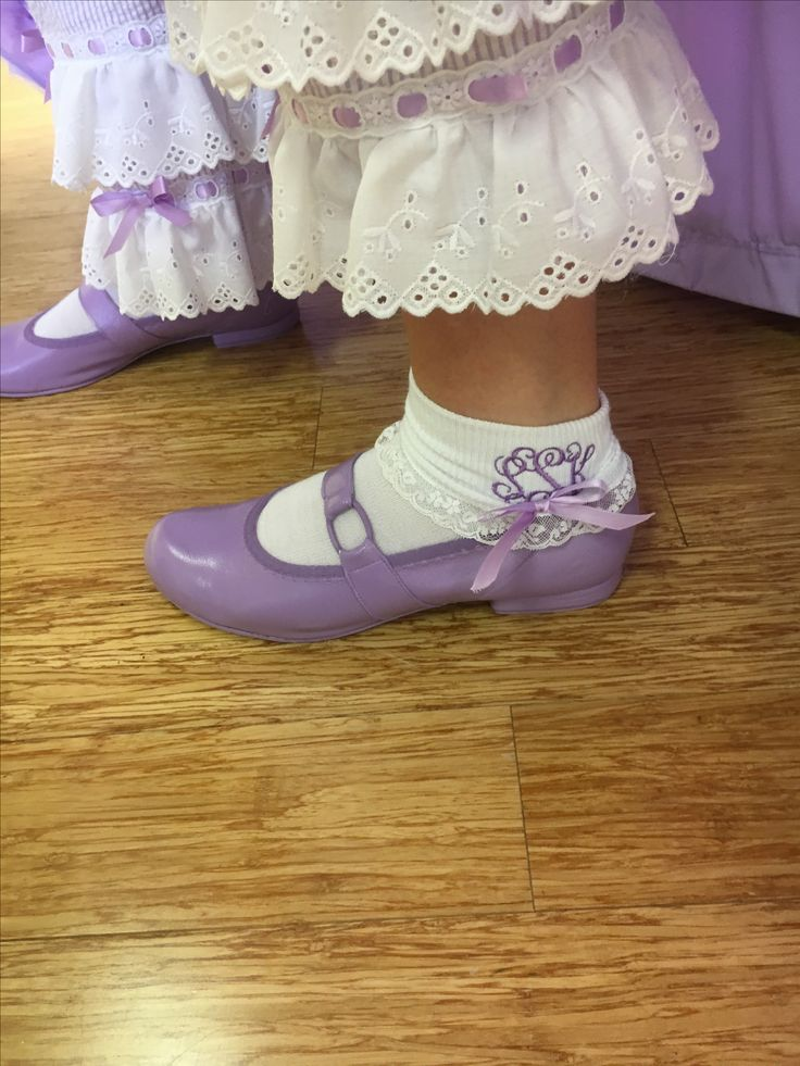 Azalea Trail Maids are not dressed without their monogrammed ankle socks