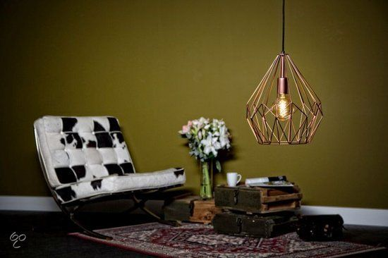 EGLO Vintage - Hanglamp - 1 Lichts - Koperkleurig