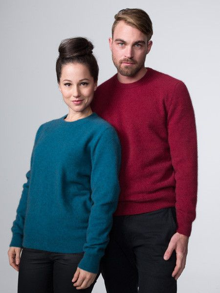 Possumdown Plain Crew Neck Jumper from Possumdown