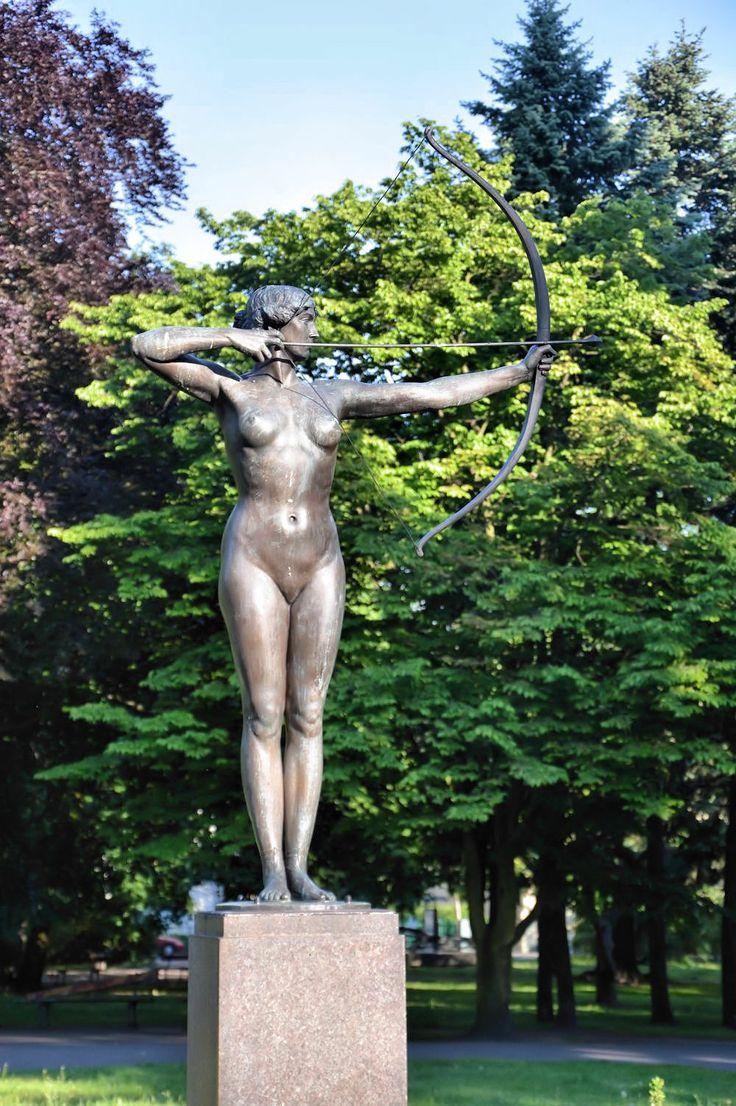 Archer Lady Sculpture, Bydgoszcz, Poland
