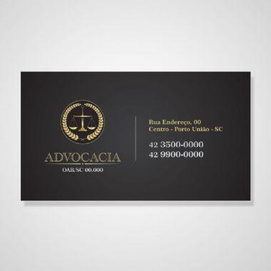 Cartão Advocacia - 1000unid - Couchê 300g - 4x0 Cores | Cartão Pronto
