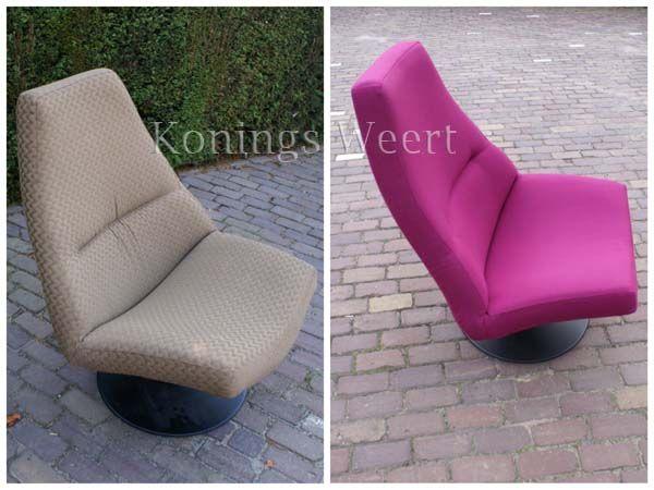 Deze Artifort stoel staat met een nieuwe meubelstof weer prachtig in uw woonkamer.  www.konings-weert.nl  www.facebook.com/koningsweert